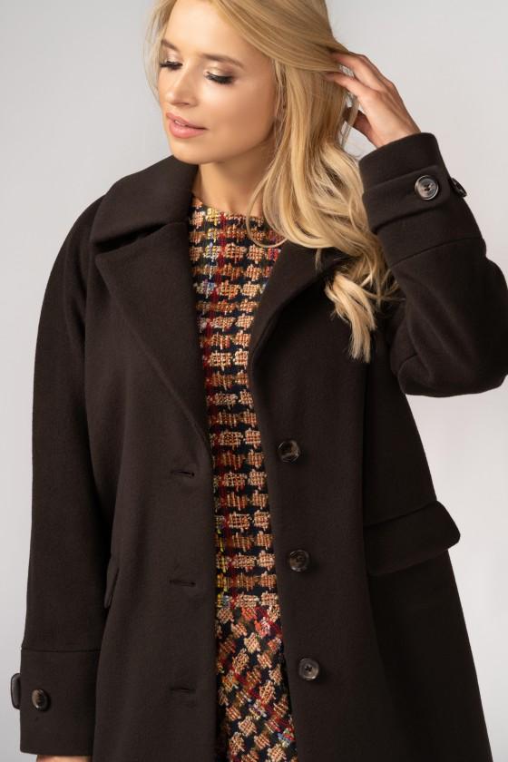 Płaszcz typu kimono m529 brązowy