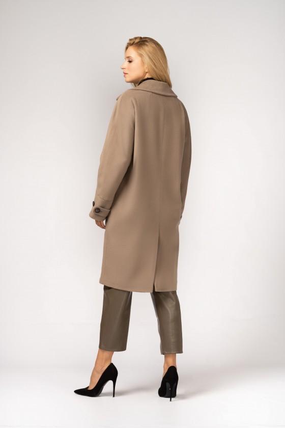 Płaszcz typu kimono m529 szaro-beżowy