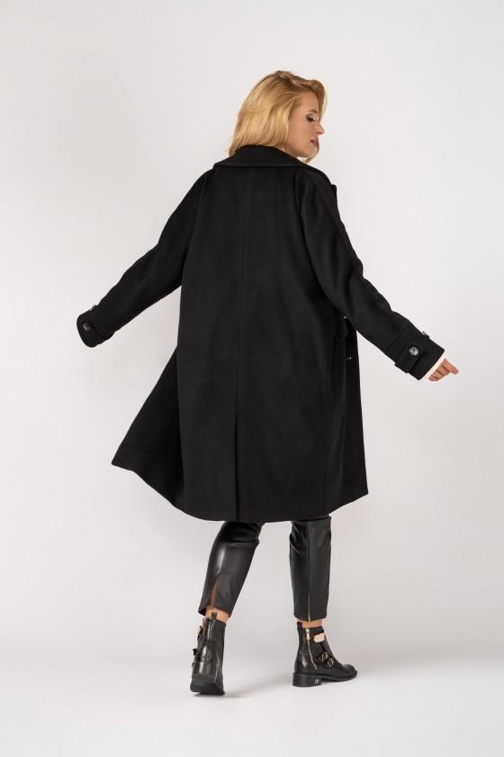 Płaszcz typu kimono m529 czarny
