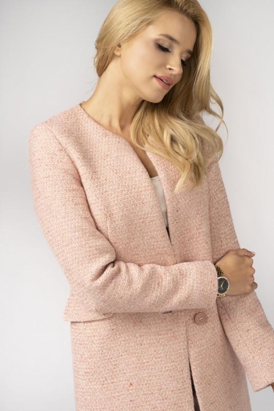 Minimalistyczny płaszcz m527 różowy