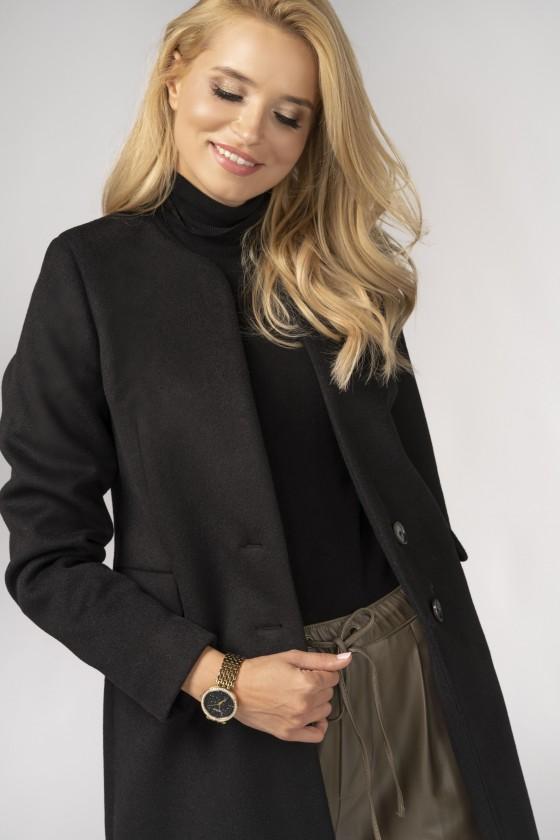 Minimalistyczny płaszcz m527 czarny