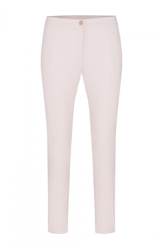 Spodnie m808 beżowo różowe