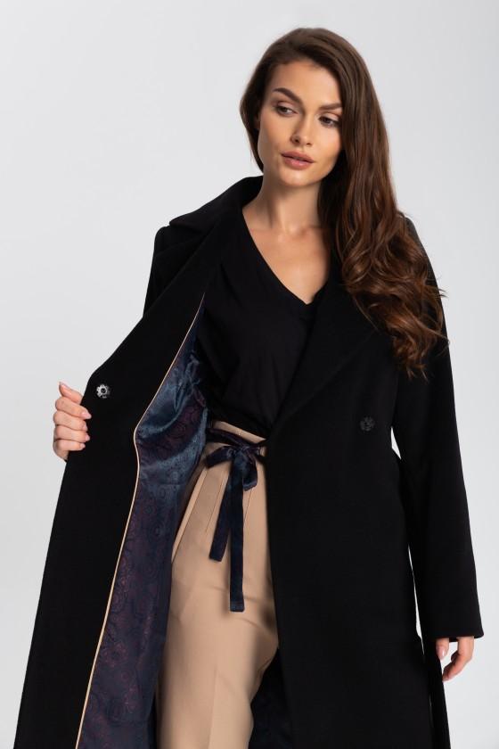 Płaszcz m433 czarny