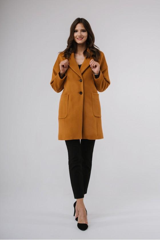 Płaszcz m495  żółty