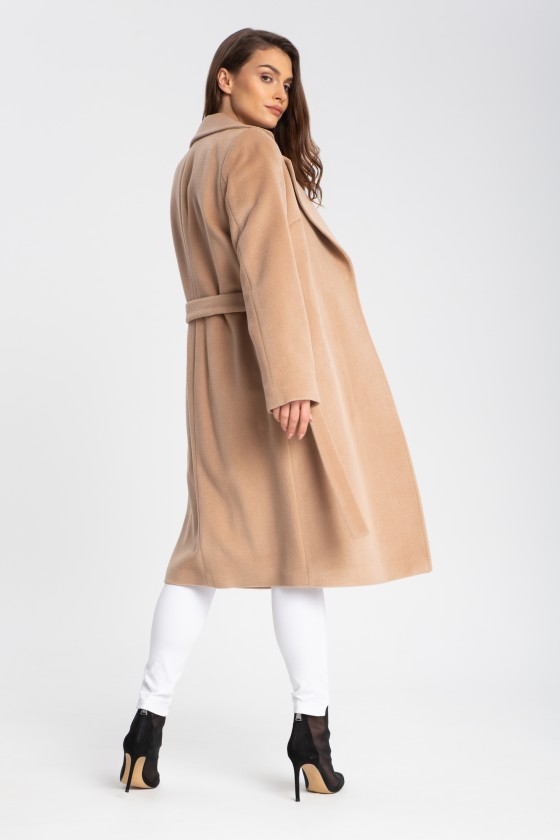 Płaszcz m433 camelowy