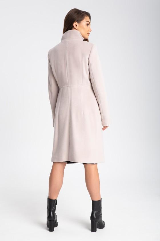 Płaszcz m509 beżowo różowy