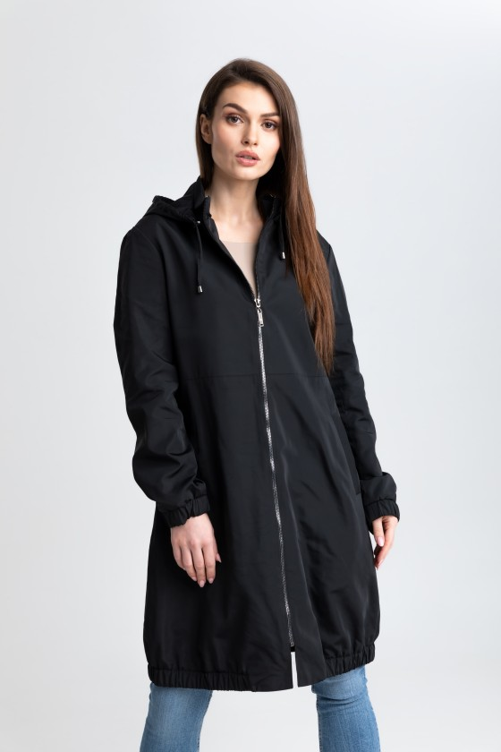 Płaszcz typu parka czarny m521