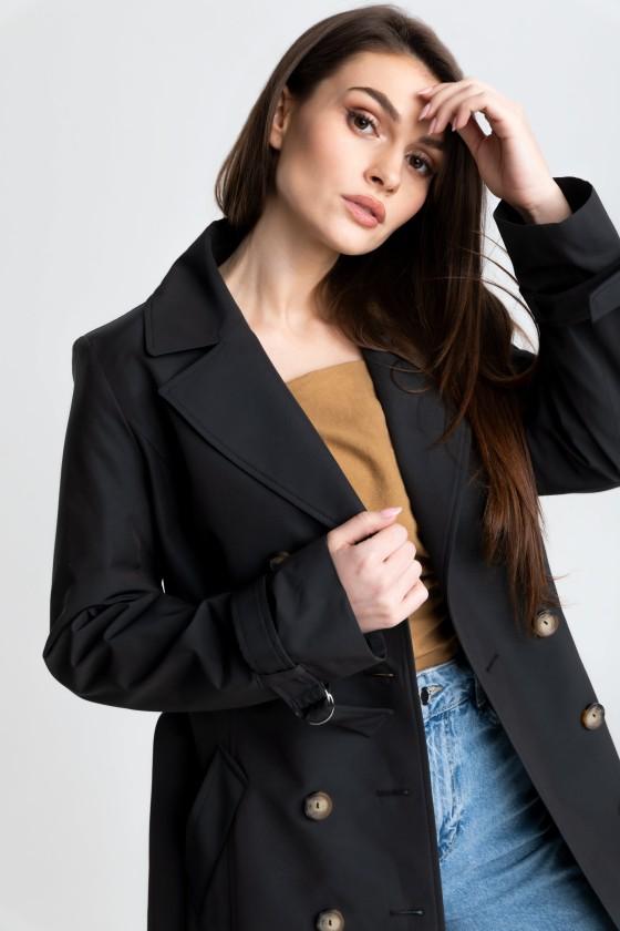 Płaszcz czarny prochowiec m519