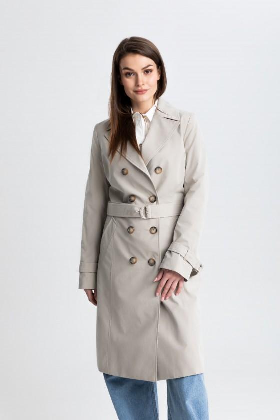 Płaszcz beżowy prochowiec m519