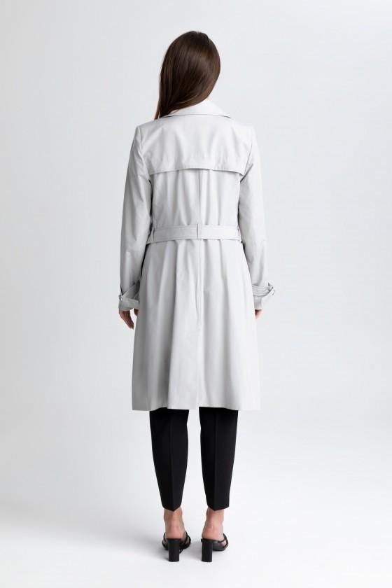 Płaszcz jasnoszary prochowiec m519