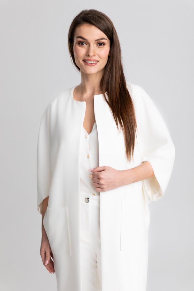 Elegancki, luźny płaszcz typu kimono m517 Szulist