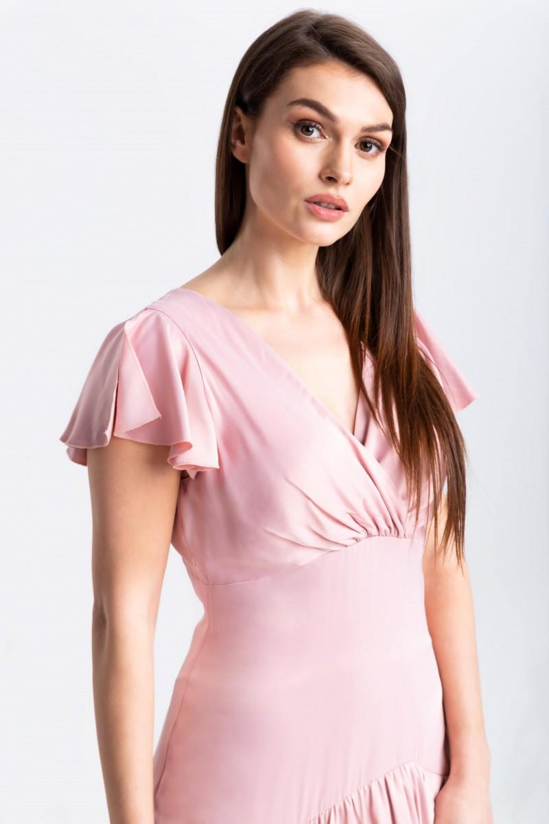 Kobieca, zwiewna sukienka z falbanami m970 Szulist